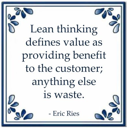 lean thinking quote eric ries waste